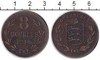 Изображение Монеты Гернси 8 дублей 1918 Бронза XF