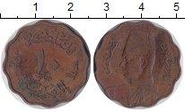 Изображение Монеты Египет 10 миллим 1943 Бронза VF Фарук