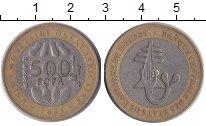 Изображение Монеты Французская Африка 500 франков 2003 Биметалл VF