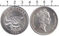 Изображение Монеты Бермудские острова 1 доллар 1986 Серебро UNC-