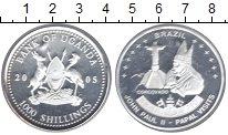 Изображение Монеты Уганда 1000 шиллингов 2005 Серебро Proof