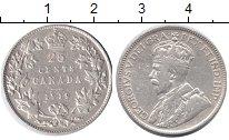 Изображение Монеты Канада 25 центов 1919 Серебро XF Георг V.