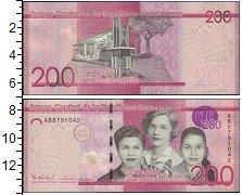 Изображение Банкноты Доминиканская республика 200 песо 0  XF