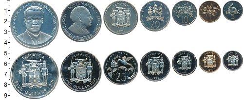 Изображение Наборы монет Ямайка от 1 цента до 5 долларов 1971 Медно-никель UNC- В наборе 7 монет ном