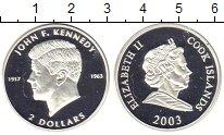 Изображение Монеты Острова Кука 2 доллара 2003 Серебро Proof