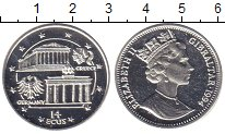 Изображение Монеты Гибралтар 14 экю 1994 Серебро Proof Елизавета II. Герман