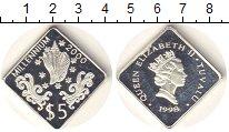 Изображение Монеты Тувалу 5 долларов 1998 Серебро Proof Елизавета II. Миллен