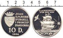 Изображение Монеты Андорра 10 динерс 1994 Серебро Proof
