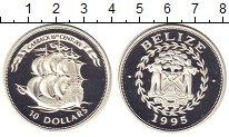 Изображение Монеты Белиз 10 долларов 1995 Серебро Proof
