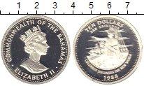 Изображение Монеты Багамские острова 10 долларов 1988 Серебро Proof-