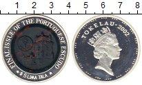 Монета Токелау 5 тала Серебро 2002 Proof фото