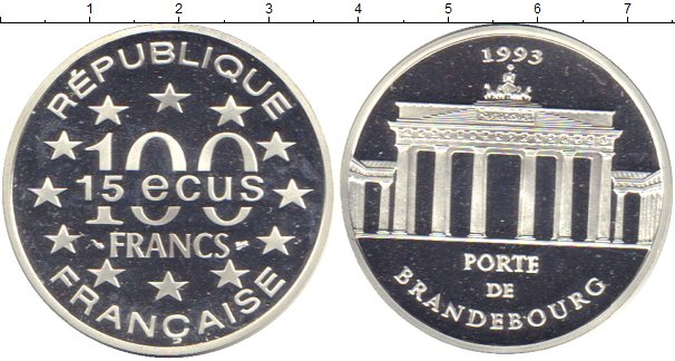 Картинка Монеты Франция 100 франков Серебро 1993