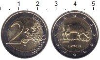 Изображение Мелочь Латвия 2 евро 2016 Биметалл UNC