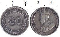 Изображение Монеты Стрейтс-Сеттльмент 20 центов 1927 Серебро VF