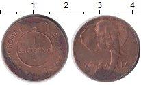 Изображение Монеты Сомали 1 сентесимо 1950 Бронза XF
