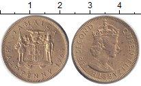 Изображение Монеты Ямайка 1/2 пенни 1964 Латунь XF