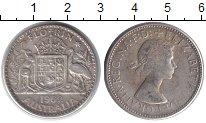 Изображение Монеты Австралия 1 флорин 1962 Серебро VF