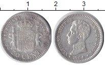Изображение Монеты Испания 50 сентимо 1904 Серебро XF Альфонсо XIII.