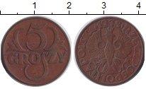 Изображение Монеты Польша 5 грош 1938 Бронза XF