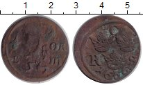 Изображение Монеты Швеция 1/6 эре 1666 Медь VF Карл XI
