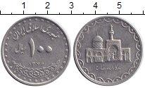 Изображение Мелочь Иран 100 динар 1997 Медно-никель XF