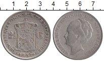 Изображение Монеты Нидерланды 2 1/2 гульдена 1937 Серебро XF