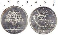 Изображение Монеты Франция 100 франков 1986 Серебро UNC