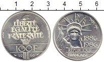 Изображение Монеты Франция 100 франков 1986 Серебро Proof-