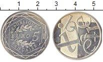 Изображение Монеты Франция 5 евро 2013 Серебро Proof-