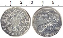 Изображение Монеты Австрия 5 евро 2008 Серебро Proof-