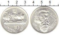 Изображение Монеты Словакия 10 евро 2009 Серебро Proof 150 - летие Ауреля С