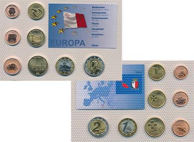 Изображение Наборы монет Мальта Европроба 2006 2006  UNC Монеты находятся в п