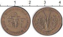 Изображение Монеты Западная Африка 5 франков 1977 Латунь XF