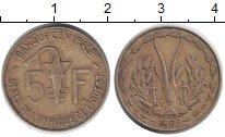 Изображение Монеты Западная Африка 5 франков 1965 Латунь XF