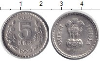 Изображение Монеты Индия 5 рупий 1999 Медно-никель XF