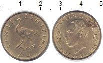 Изображение Монеты Танзания 20 сенти 1960 Латунь XF