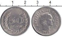 Изображение Монеты Колумбия 50 сентаво 1975 Медно-никель XF