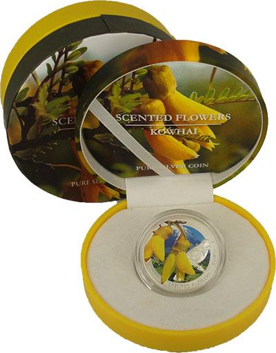Изображение Подарочные монеты Ниуэ Цветы 2013 Серебро Proof Монеты номиналом 1 д
