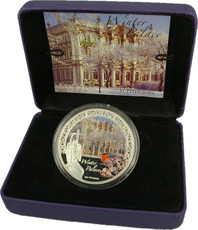 Изображение Подарочные монеты Новая Зеландия Ниуэ Зимний дворец 2012 Серебро Proof