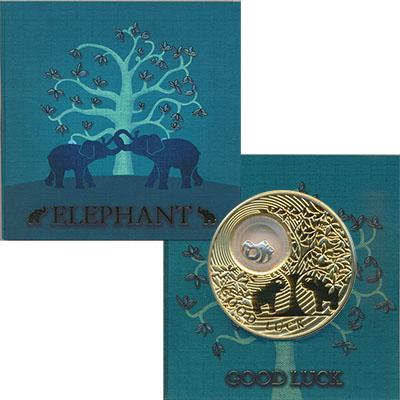 Изображение Подарочные монеты Новая Зеландия Ниуэ На счастье 2013 Серебро Proof