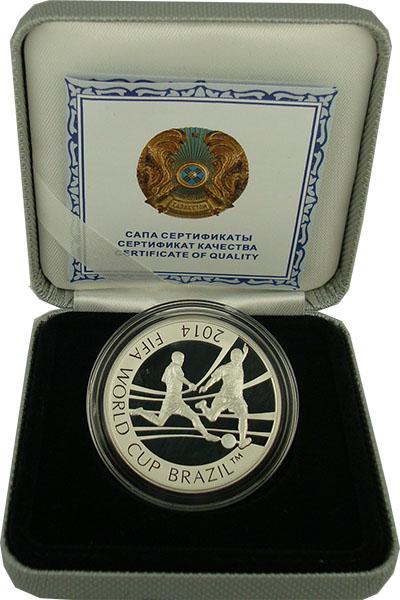 Изображение Подарочные монеты Казахстан 100 тенге 2014 Серебро Proof- `Монета номиналом 10