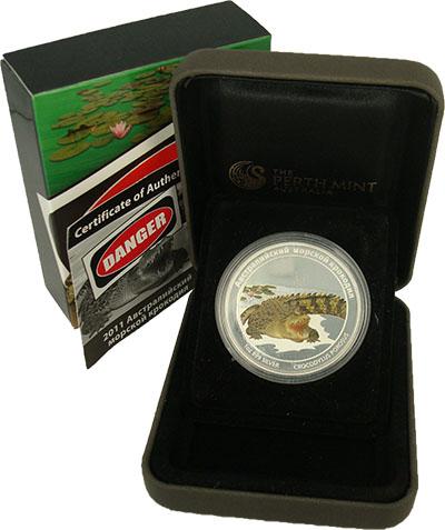 Изображение Подарочные монеты Тувалу 1 доллар 2011 Серебро Proof 1-долларовая монета