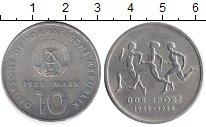 Изображение Монеты ГДР 10 марок 1988 Медно-никель XF 40 лет спорту в ГДР