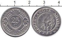 Изображение Монеты Антильские острова 25 центов 1991 Медно-никель UNC- Нидерландские Антиль