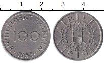 Изображение Монеты Саар 100 франков 1954 Медно-никель XF
