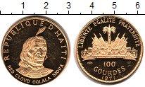 Изображение Монеты Гаити 100 гурдес 1971 Золото Proof KM# 97, вес 19,75 гр
