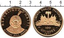 Изображение Монеты Гаити 100 гурдес 1971 Золото Proof KM# 91, вес 19,75 гр