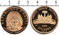 Изображение Монеты Гаити 100 гурдес 1971 Золото Proof KM# 93, вес 19,75 гр
