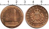 Изображение Монеты Сан-Марино 5 скудо 1987 Золото UNC KM# 215, вес 16,95 г