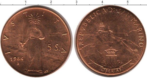 Картинка Монеты Сан-Марино 5 скудо Золото 1984